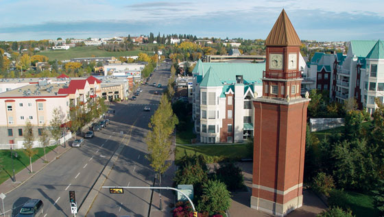 downtown clocktower st. alberta