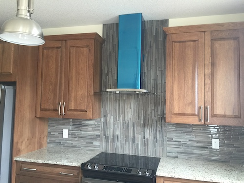 glass mosaic kitchen backsplash