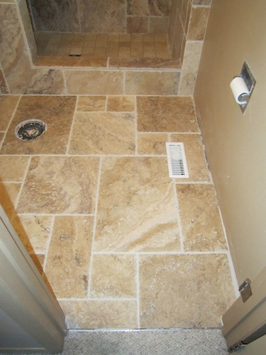marble tile completed