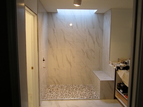 porcelain tile custom shower